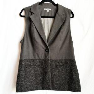 CABI Vest color block grey career wear size M EUC